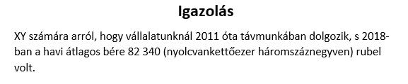 Fizetési igazolás magyarul. Egy profi fordítása